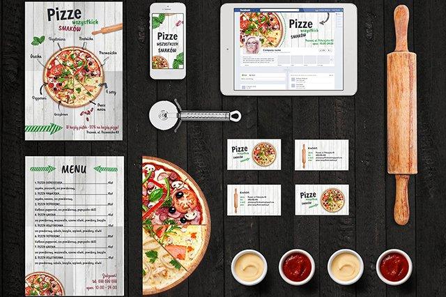 MockUp dla pizzerii. Takie materiały zrobisz sam, bez asysty grafika