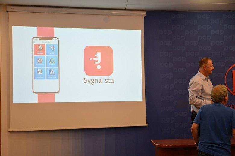 Sygnalista to aplikacja, która umożliwi nam zrobienie zdjęcia i w czasie rzeczywistym przekazanie go w formie zgłoszenia odpowiednim służbom