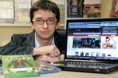 Tomasz Henel, właściciel firmy sprzedającej na Allegro filmy i gry komputerowe.