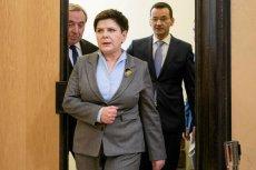 Premier Beata Szydło i wicepremier Mateusz Morawiecki (z prawej).
