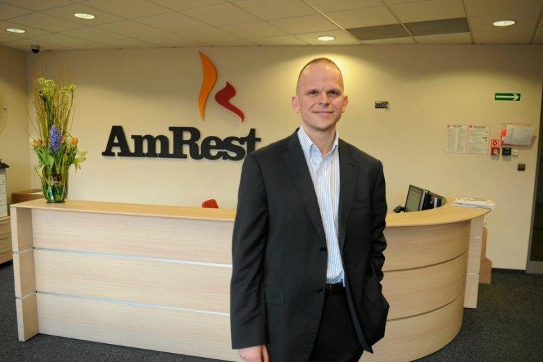 Olgierd Danielewicz, brand manager firmy Amrest. 40 proc. jej akcji znajduje się w rękach OFE.