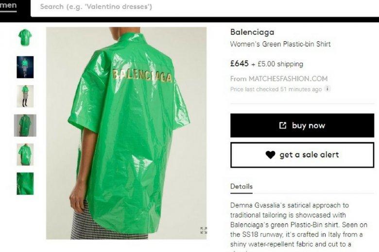 Cena koszul Balenciagi przebija 3200 złotych.