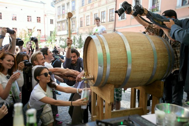 Lubelskie Święto Młodego Cydru. Cydr Lubelski właśnie zajął trzecie miejsce w globalnym konkursie najlepszych tego typu napojów w Anglii.