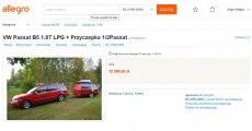 Półtora samochodu wystawione na sprzedaż