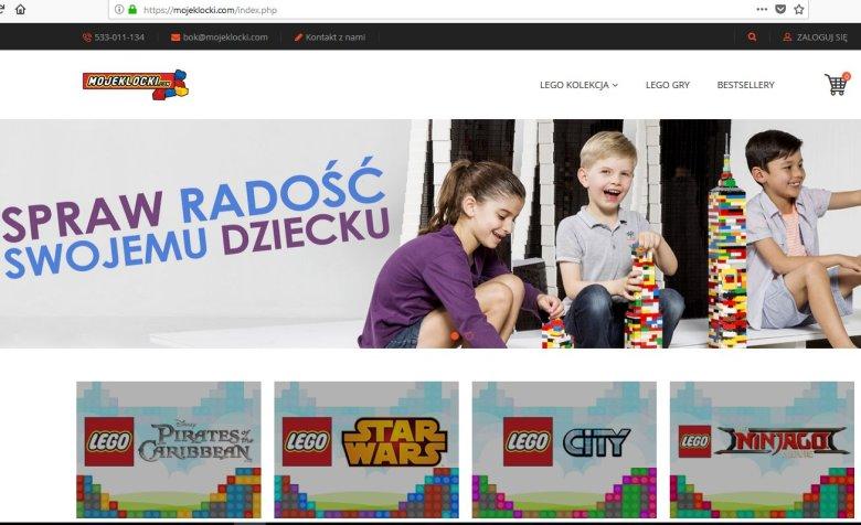 Nowy sposób na oszustwo internetowe. Zamiast kupić wymarzone klocki LEGO, zasilisz konto internetowych złodziei. Uważaj na sklep mojeklocki.com