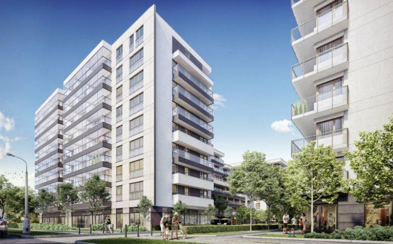 Nowoczesna inwestycja mieszkaniowa na styku Mokotowa i Służewia.
