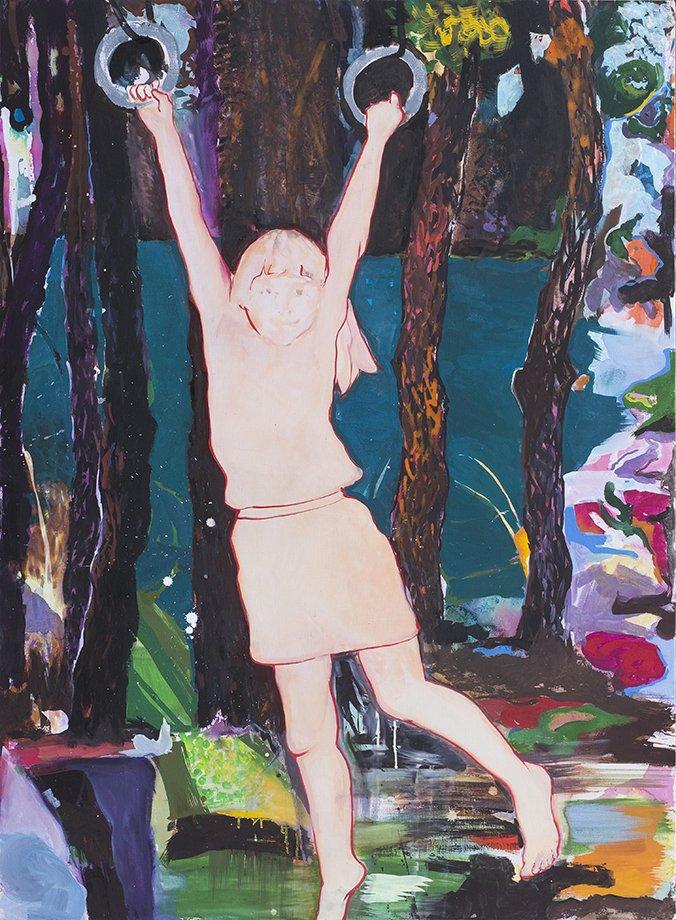 Agnieszka Strojna, bez tytułu, tempera jajowa na płótnie, 110x150 cm