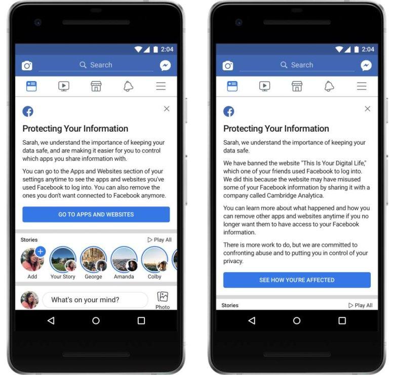 Facebook powiadomił osoby, których dane zostały udostępnione partnerom, stosownym komunikatem wyświetlanym w newsfeedzie.