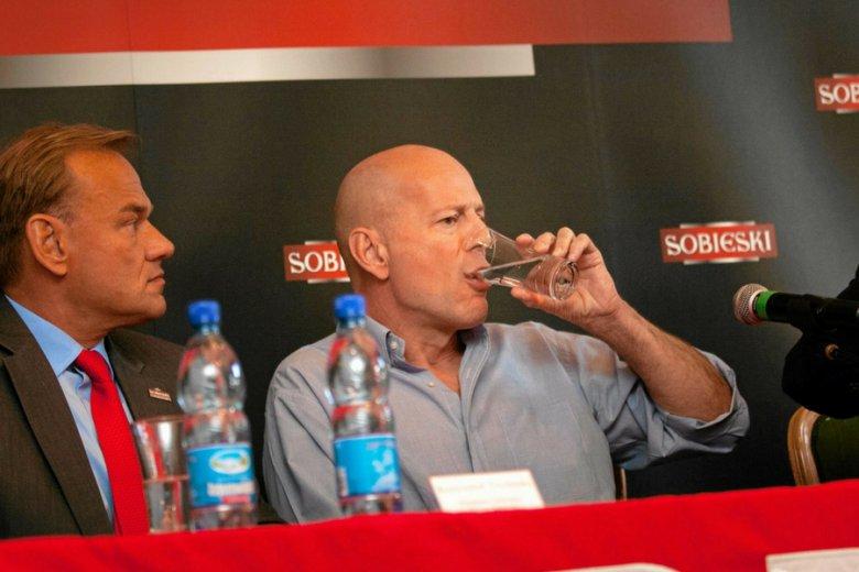 Wódkę Sobieski reklamował w swoim czasie Bruce Willis.