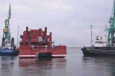 """Najnowocześniejszy statek badawczo – naukowy """"Oceanograf"""" jest już na wodzie. Na razie było to tzw. wodowanie techniczne."""