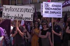 Pracownicy Huty w Zawierciu protestują, ponieważ od miesięcy nie otrzymują pensji