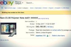 Zwycięzca aukcji ani myślał zapłacić. Zaczął tłumaczyć, że podczas licytowania wpisał do okienka złą kwotę – chodziło mu bowiem o 60...funtów