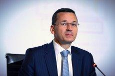 Premier Morawiecki podczas prezentacji pakietu ułatwień dla przedsiębiorców