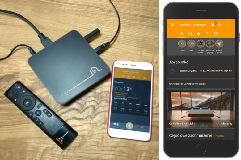 Asystent Głosowy może być obsługiwany także dzięki aplikacji na smartfon.