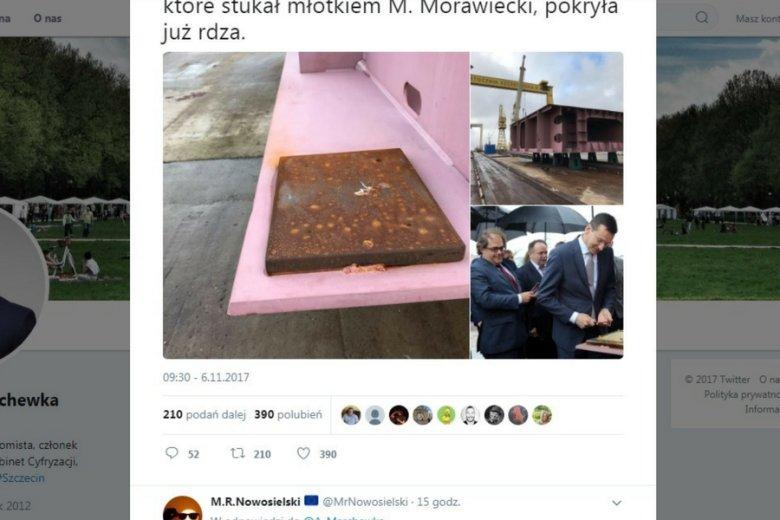 Tweet posła Marchewki.
