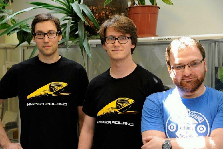 Twórcy projektu Hyper Poland: Paweł Radziszewski, Krzysztof Tabaszewski oraz Wojciech Pawlak.