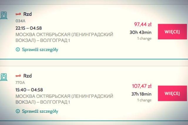 Podróż koleją z Moskwy do Wołgogradu to nie taka prosta sprawa
