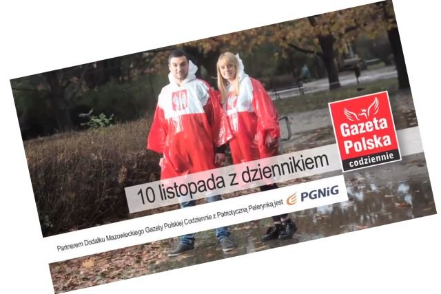 """Biało-czerwona peleryna zostanie dołączona tylko do mazowieckiego wydania """"Gazety Polskiej Codziennie""""."""