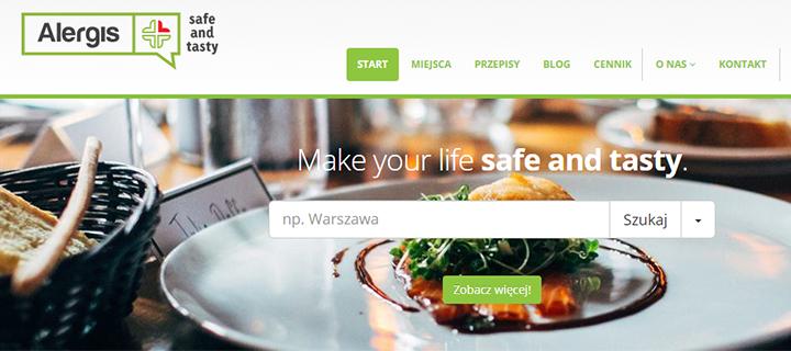 Strona www o zdrowym żywieniu dla alergików