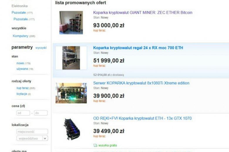 Ceny sprzętu do kopanie wahają się od kilku do stu tysięcy złotych.