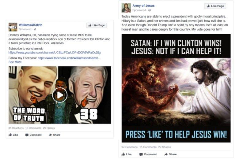 """Clintonowie jako grzesznicy: """"jeśli ja wygram, wygra Clinton"""" - zapowiada mocujący się z Chrystusem szatan. A rzekomy nieślubny syn Billa Clintona przypomina Amerykanom o swoim istnieniu."""