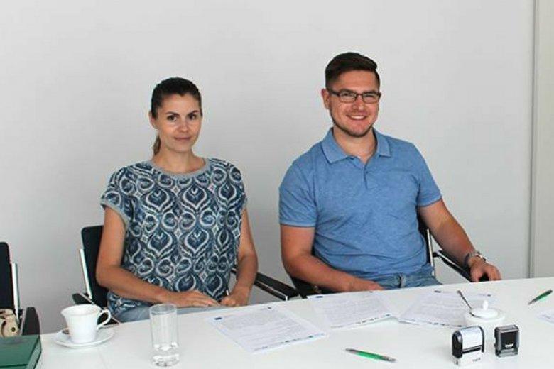 Marzena Płaza i Piotr Kenig.
