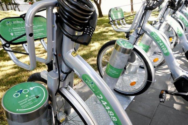 Prezentacja elektrycznych rowerów Veturilo.