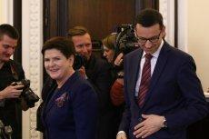 Beata Szydło i Mateusz Morawiecki.