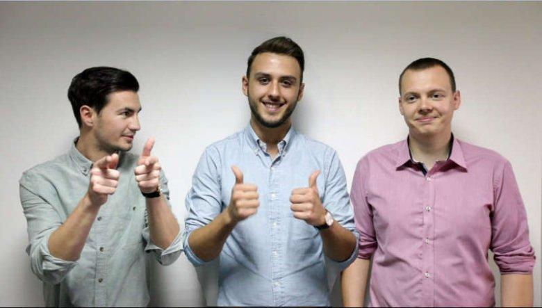 Zespół twórców serwisu, od lewej: Maciej Wartacz, Bruno Markovic i Michał Charmas.
