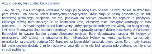 Zapis wypowiedzi Anny Zalewskiej na spotkaniu z uczniami w Świebodzinie