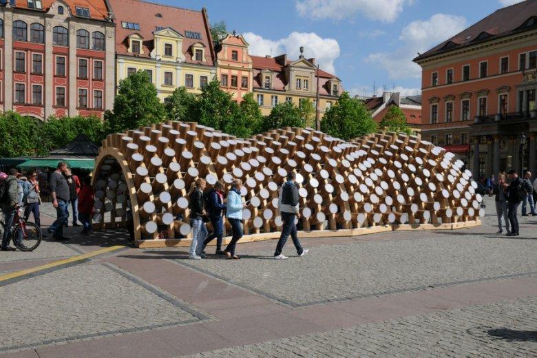 Pawilon przygotowany dla Politechniki Wrocławskiej.