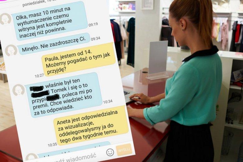 Korespondencja między szefową a jej zastępczynia może z powodzeniem ilustrować patologie polskiego rynku pracy.