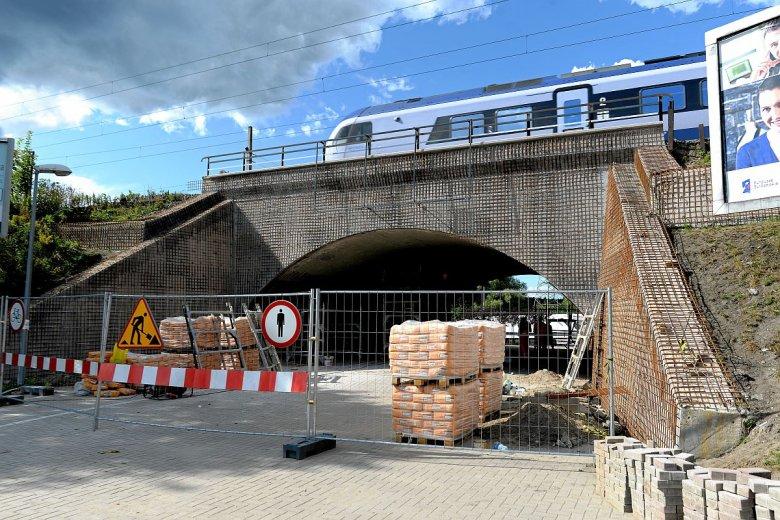 Jedna z olsztyńskich inwestycji (remont wiaduktu przy ul. Grunwaldzkiej), która może nie doczekać się końca z powodu braku pieniędzy.