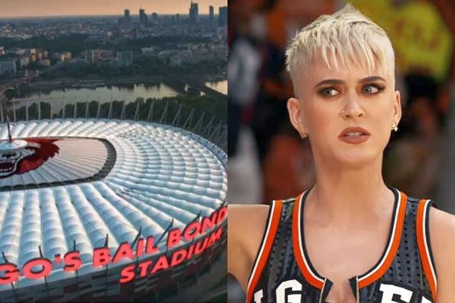 Już na samym początku najnowszego teledysku Katy Perry widać cyfrowo przerobiony PGE Narodowy