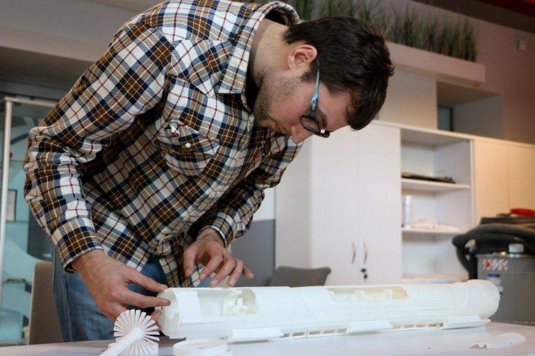 Krzysztof Tabiszewski pracuje nad hyperloopem w wersji 3D