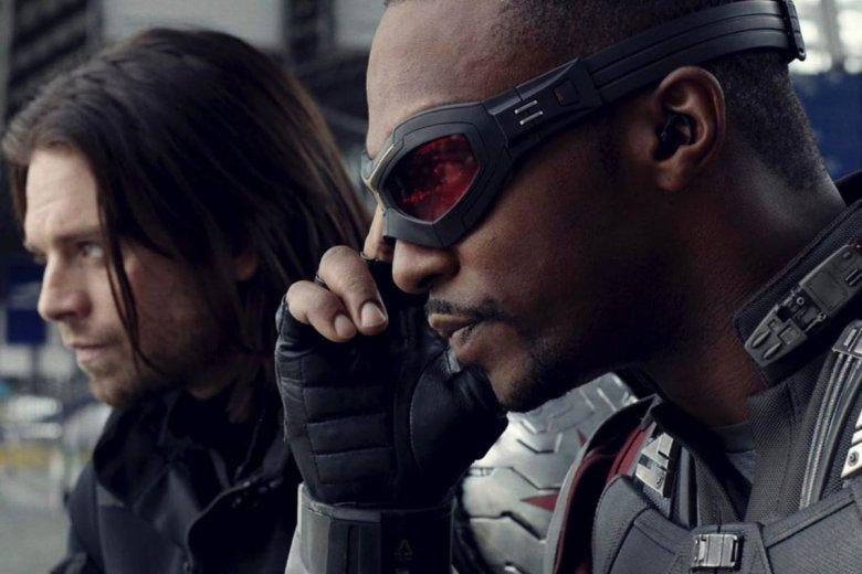 Anthony Mackie i Sebastian Stan jako Falcon i Winter Soldier.