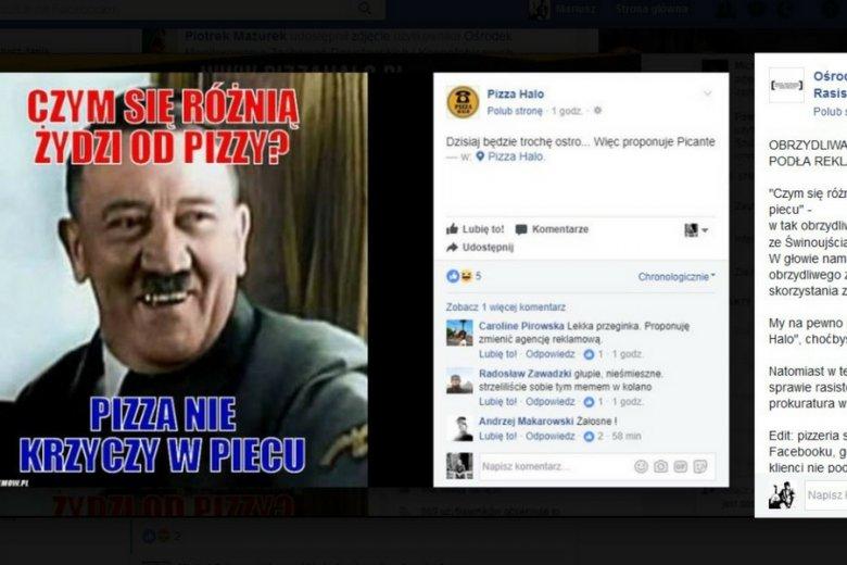 Antysemicki post błyskawicznie znalazł się na stronach Ośrodka Monitorowania Zachowań Rasistowskich i Ksenofobicznych.