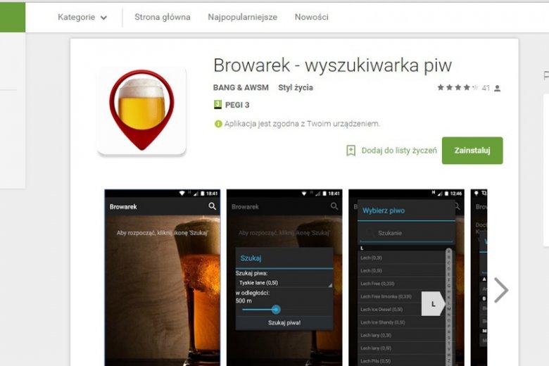 Browarek App to niezbędnik każdego piwosza! W kilka minut pozwoli znaleźć lokal, w którym serwują nasz ulubiony trunek.