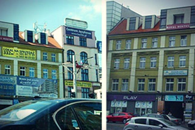 Wrocław, ul. K. Wielkiego sprzed i po ustanowieniu parku kulturowego