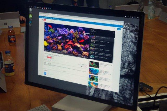 Surface Studio może służyć również jako komputer