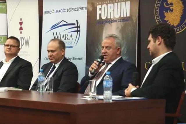 Chrześcijańskie Forum Przedsiębiorczości na UKSW (grudzień 2016 r.)