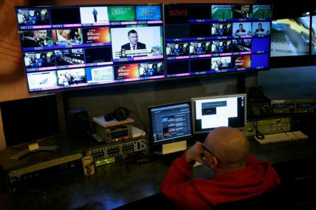 Studio stacji telewizyjnej TVN.