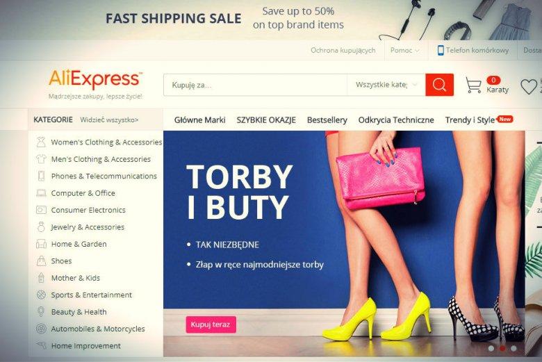 75bb524a2a AliExpress znajduje się na trzecim miejscu wśród najchętniej wybieranych  platform e-commerce w Polsce.