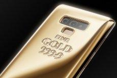 Kilogramowa wersja Samsunga Galaxy Note 9, smartfon z czystego złota.