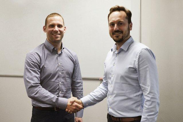 Edward Mężyk, prezes Datarino Group, oraz Tomasz Cichowicz z Luma Ventures.