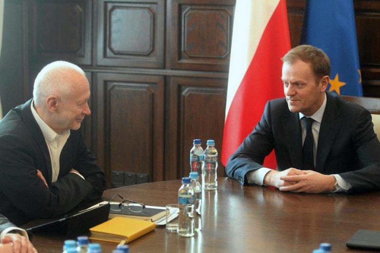 Jak polonista z historykiem - Michał Boni z Donaldem Tuskiem.