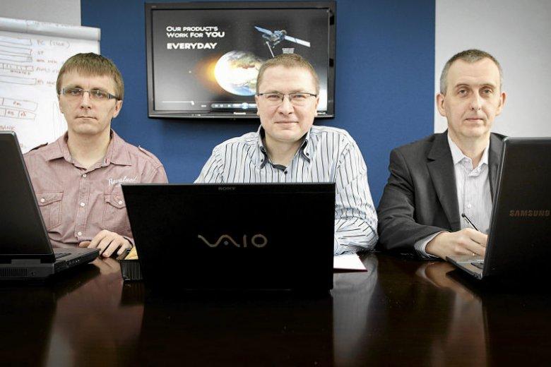 Założyciele Digital Core Design. Od lewej: Tomasz Krzyżak, Jacek Hanke i Piotr Kandora.