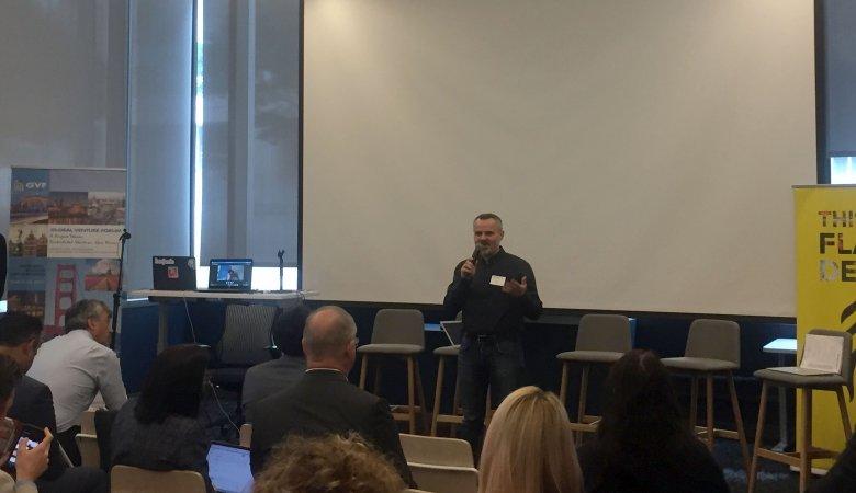 Prezentacje start-upów, Global Venture Forum, Błażej Marciniak, Sher.ly