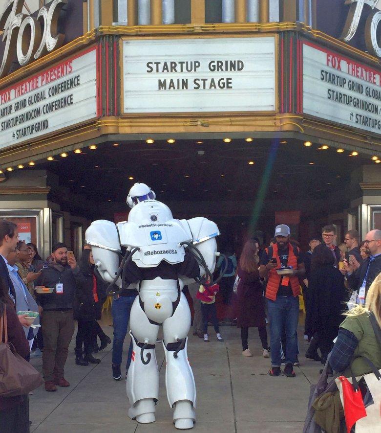Startup Grind Global Conference, 2017, Redwood City, wejście głowne