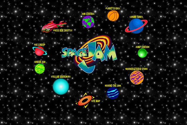 """Perła Internetu – nieaktualizowana od czasu założenia strona filmu """"Kosmiczny Mecz"""" z 1995 roku."""